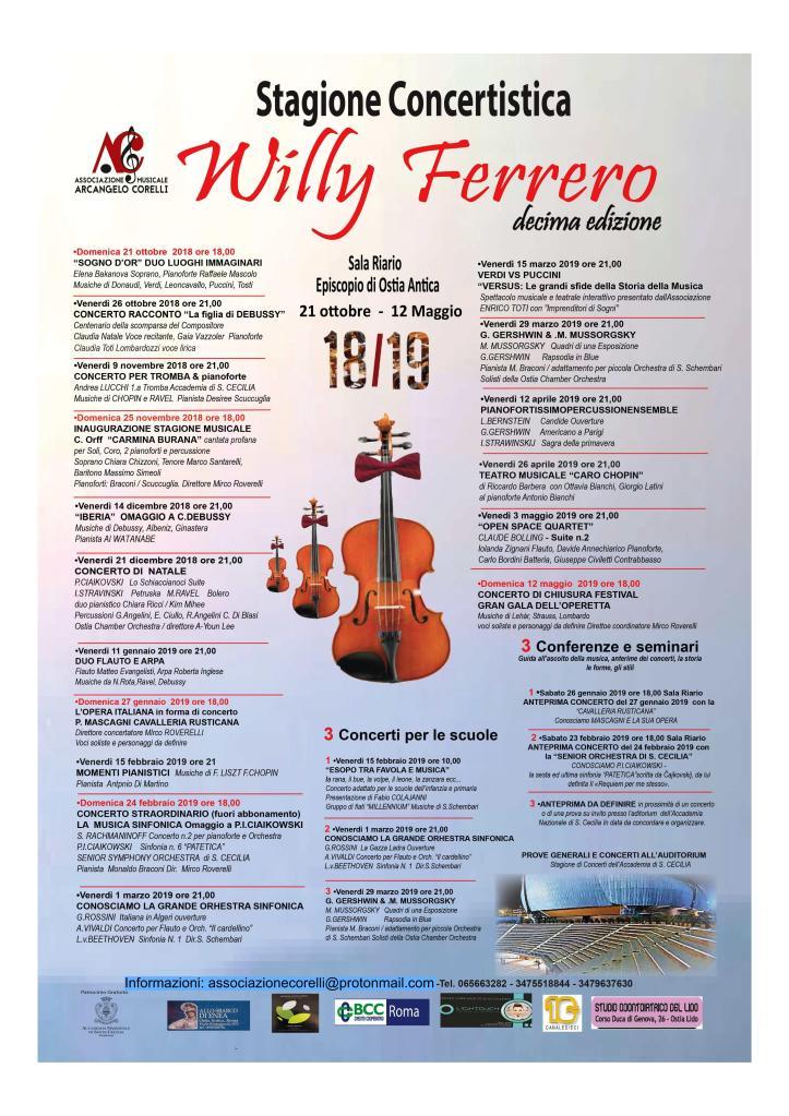 Willy Ferrero X edizione locandina