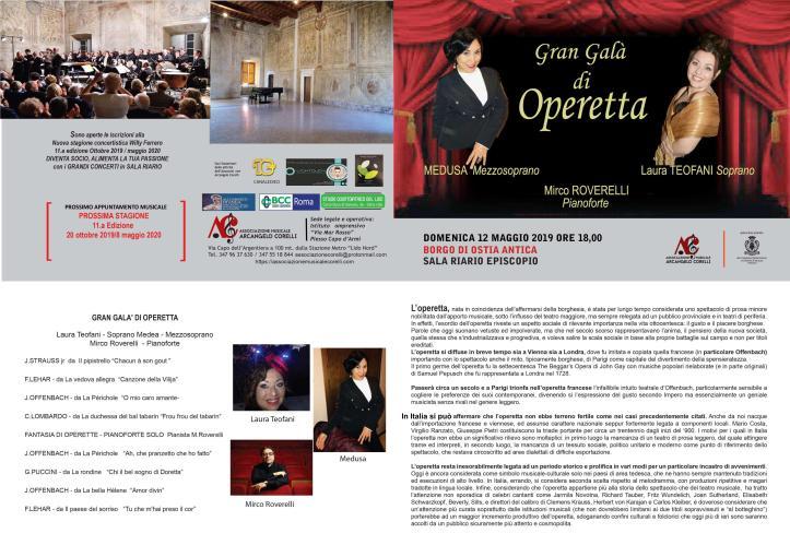 Concerto 12 maggio 2019 operetta